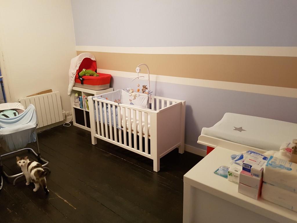 au 9 ème mois de grossesse la chambre du bébé est prête